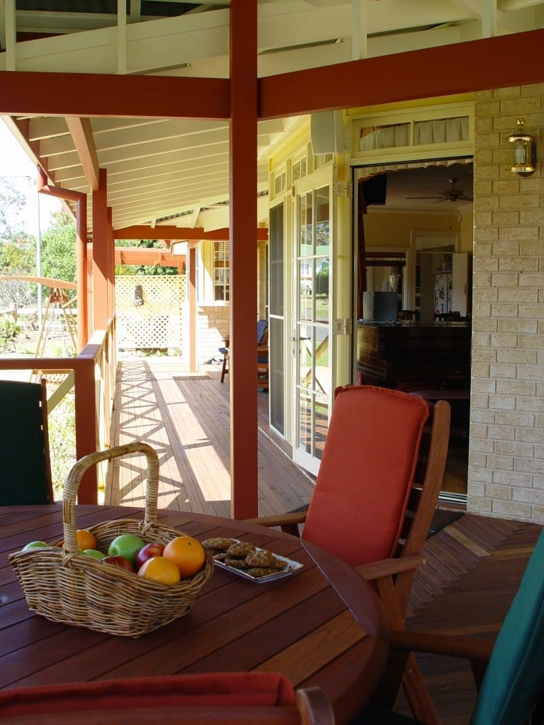 Verandah east face